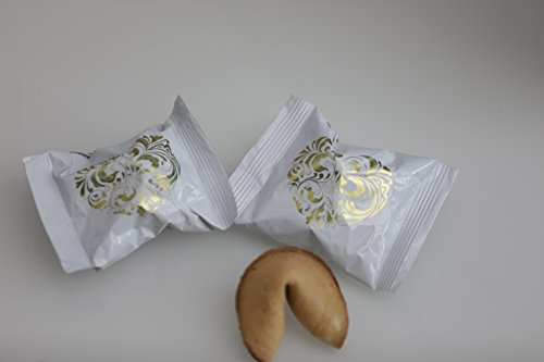 20 Wedding Fortune Cookies Wrapped in Silver Foil by Unravel A Gift