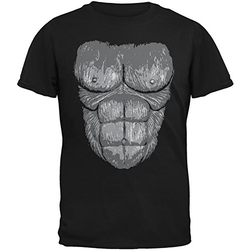[Halloween Gorilla Suit Costume Black Youth T-Shirt - Youth Small] (Funny Gorilla Costume)
