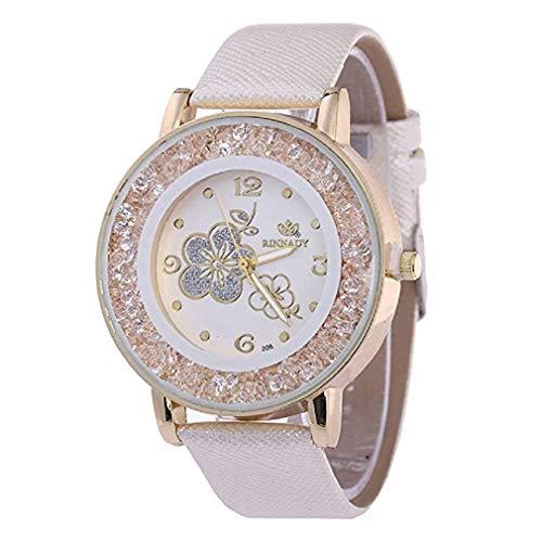 ¡Promoción Relojes de Cuarzo para Mujer, señoras, Chicas Adolescentes, Moda Minimalista, Reloj de Pulsera analógico Casual. (Blanco): Amazon.es: Relojes
