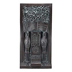 Ebros Frank Lloyd Wright Oak Park Studio Loggia Columns Tree of Life Sentry Stork Wall Panel Plaque 24 Tall