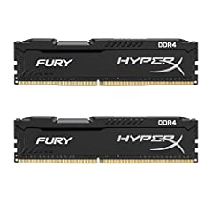HyperX FURY DDR4 memory automatically overclocks to the highest frequency published, up to 2666MHz1, to deliver instant top-level performance for motherboards with Intel's 100 Series and X99 chipsets. It's a small investment for premium compo...