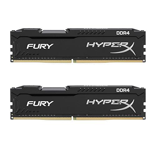 Kingston Technology HyperX Fury 16GB (2 x 8GB) DDR4 2400MHz DRAM (Desktop Memory) CL15 1.2V DIMM (288-pin) Black HX424C15FB2K2/16