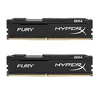 HyperX Kingston Technology Fury Black 32 GB Kit CL15 DIMM DDR4 2400 MT/s Internal Memory (HX424C15FBK2/32)