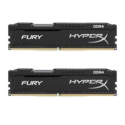 Kingston Technology HyperX Fury 16GB (2 x 8GB) DDR4 2400MHz DRAM (Desktop Memory) CL15 1.2V DIMM (288-pin) Black HX424C15FB2K2/16