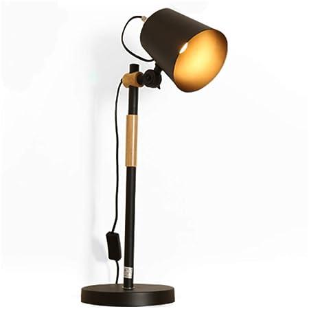 GRMN Lámpara de Escritorio Oficina de Estudio Moderno Hierro Roble ...