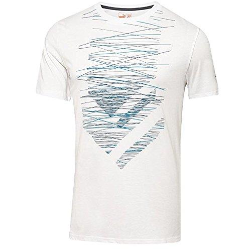 Puma Mens Performance T-Shirt White Majolica