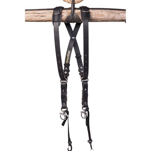 HoldFast Gear Money Maker Water Buffalo Skinny 2 Camera Harness (Black, Small) by HoldFast