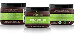 Organic Shea Butter By Sky Organics: Unrefined, Pure, Raw Ivory Shea Butter 16oz – Skin Nourishing, Moisturizing & Healing, For Dry Skin, Lip Scrubs -For Skin Care, Hair Care & DIY Recipes