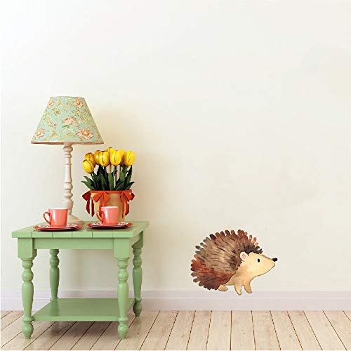 Woodland Creatures Collection: Hedgehog Wall Decal - 5.5