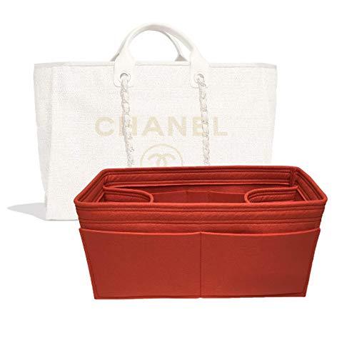 Zoomoni Chanel Deauville Tote (Large) Purse Organizer Insert - Premium Felt (Handmade/20 Colors)