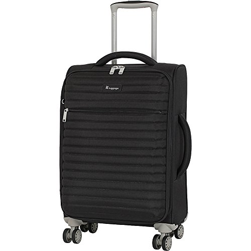 """it luggage 21.5"""" Quilte Lightweight Expandable Spinner, Black"""
