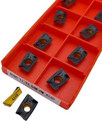 WITHOUT BRAND 10PCS R390 11T304M-PM 1030/1025/4240 Fräswerkzeuge Planfräsen Drehwerkzeuge Drehschneidwerkzeugeinsatz Drehen (Größe : 11T304M PM 4240)