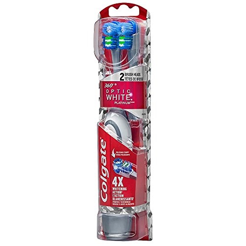 Colgate 360 Optic White Platinum Powered Toothbrush and Refill Head (Powered Toothbrush)