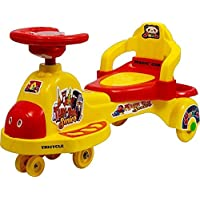 Goyal's Tuk Tuk Senior Free Wheel Musical Magic Car with Back Rest - (Yellow)
