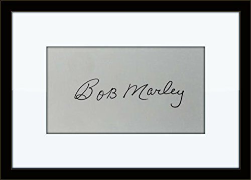 Bob Marley Memorabilia (Rare Framed Bob Marley Authentic Autograph with Ceritficate of)