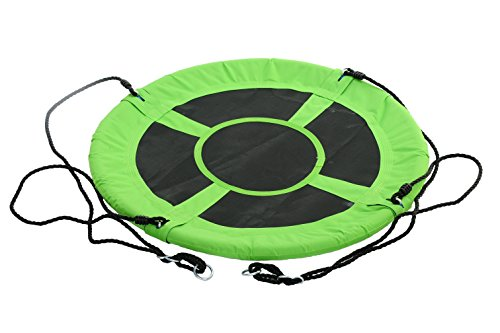 SWINGING MONKEY PRODUCTS Giant 40″ Saucer Spinner Swing, Green – Tree Swing, Swing with Friends