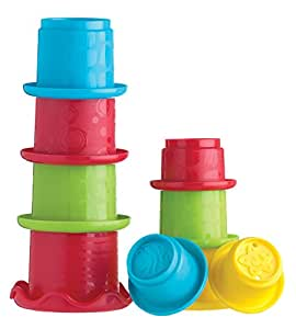 Playgro 0181913 Stacking Fun Cups GN for Baby Infant Toddler Children, Playgro is Encouraging Imagination with STEM/STEM for a Bright Future - Great Start for a World of Learning