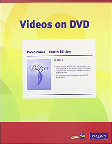 Videos on dvd for precalculus robert f blitzer 9780321575340 videos on dvd for precalculus 4th edition by robert f blitzer fandeluxe Choice Image