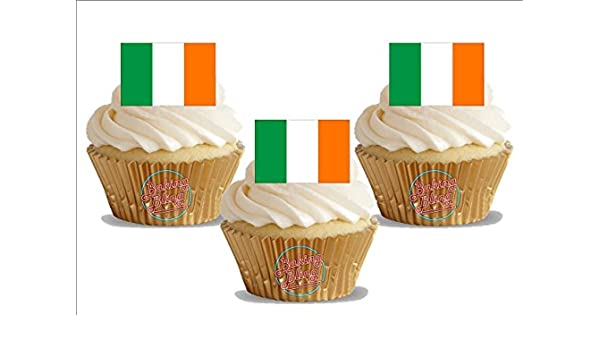 Amazon Com Irish Flag Ireland 12 Standup Edible Premium Wafer