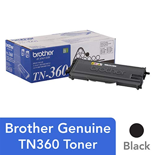 Brother Genuine High Yield Toner Cartridge, Black Toner, Page Yield Up To 2,600 Pages, TN360 ()