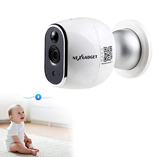 NexGadget 720P HD Security Wireless Surveillance Camera Magnetic Base Night Vision,Two -Way Audio, Motion Detection,Baby/Office/Home Security IP Camera System