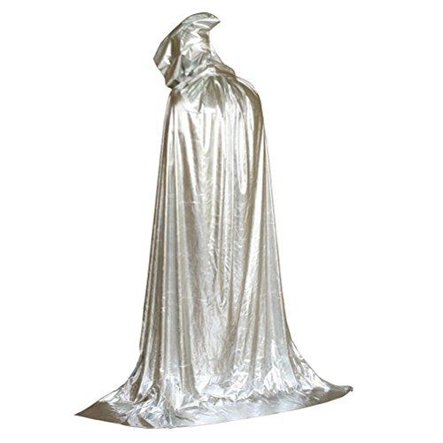 Zhhmeiruian Largo Capa con Capucha Disfraz Halloween Costumes Hombre Terror para Mujeres Hombres Halloween Fiesta Disfraces