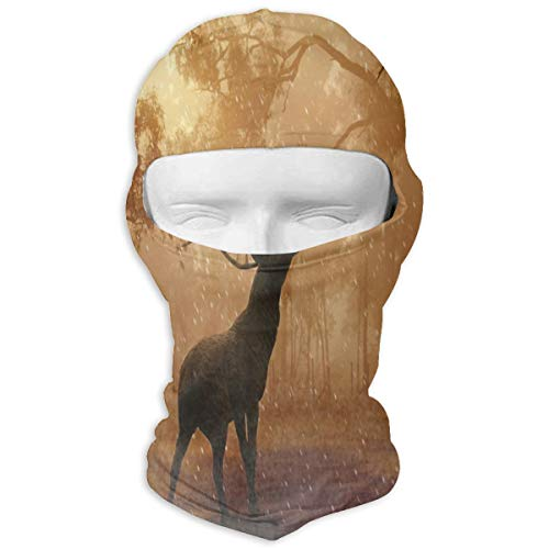 Balaclava Deer in The Snow Full Face Masks UV Protection Ski Hat Headwear Motorcycle Hiking Women Men