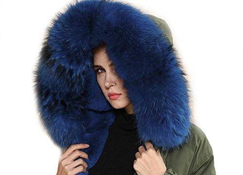 abrigo nbsp;colores XXL de Parka Azul piel Cuello Cuello 11 Capucha Desmontable bufanda 88rqHT