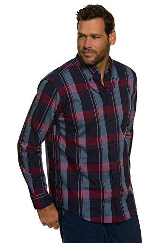 JP 1880 Homme Grandes tailles Chemise à carreaux bleu marine XL 705688 70-XL