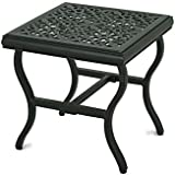 Sunjoy 110206005 Baroque Side Table, Black
