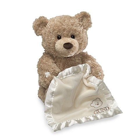 GUND Soft, Peek-a-Boo Bear with Cream-Colored Blanket, 11.5""