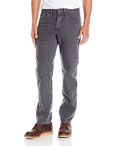 LEE Men's Regular Fit Straight Leg Jean, Charcoal, 28W x 30L