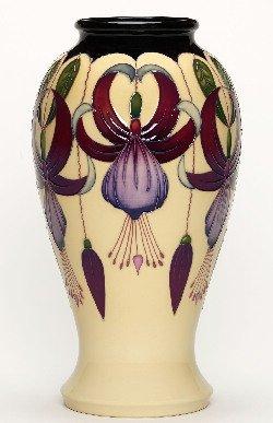Moorcroft Pottery vase - Sunshine Chandelier - Designer