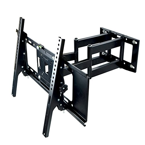 Sunydeal Full Motion Two Strong Arm Tilt Swivel TV Wall Mount Bracket for Samsung Vizio Sony TCL LG 30 32 39 40 42 43 46 49 50 55 inch LCD LED Plasma Flat Panel Smart TV, Max VESA 600x400mm, 110lbs