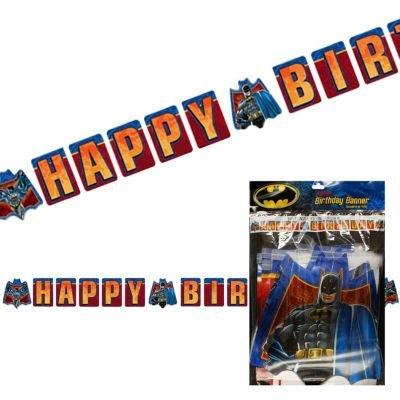 Batman Birthday Banner Decoration