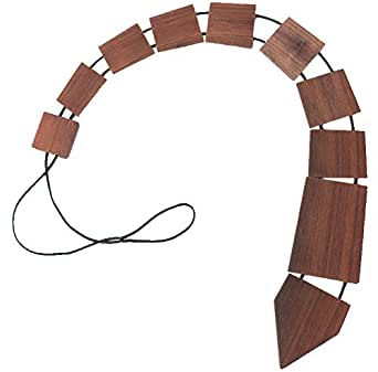Wood Thumb Men's Recycled Wooden Tie Small Brown
