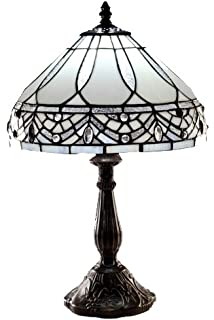 Amora lighting tiffany style am021tl14 21 inch geometric table warehouse of tiffany 1150mb06s gg tiffany style white jewels table lamp white aloadofball Image collections