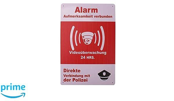 Carteles Alarma Videovigilancia Exterior. Placas de ...
