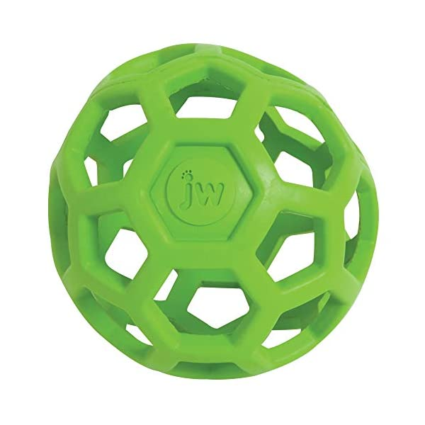 JW Hol-ee Roller Original Treat Dispensing Dog Ball – Hard Natural Rubber – Assorted Colors