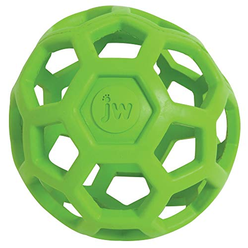 JW Hol-ee Roller Original Treat Dispensing Dog Ball - Hard Natural Rubber - Assorted Colors