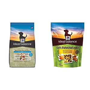Hill's Ideal Balance Puppy Natural Chicken & Brown Rice Recipe Dry Dog Food (12.5 pound bag) and Hill's Ideal Balance Soft-Baked Naturals with Chicken & Carrots Dog Treats (8 ounce bag)