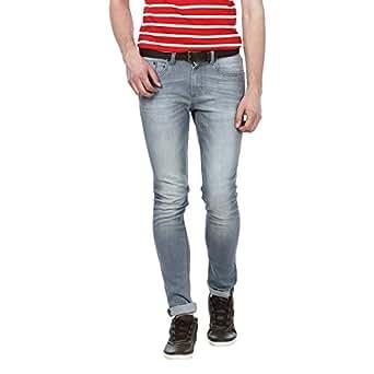 Basics B842 Low Rise Casual Jeans for Men - 44 EU, Gray