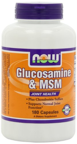 NOW Glucosamine and MSM Joint Health, 180 Capsules (Now Foods Glucosamine)