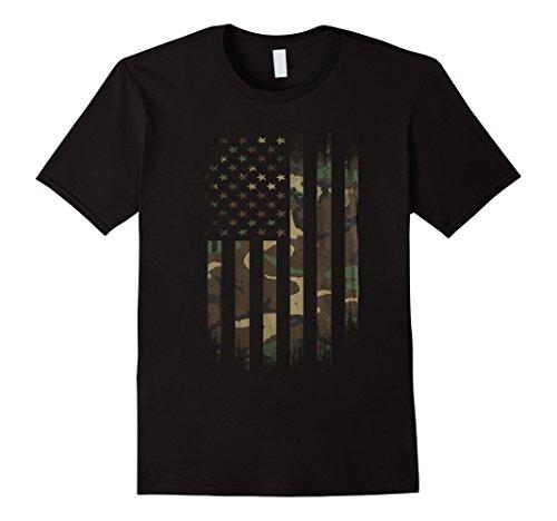 Mens US Army Camo American Flag Tshirt XL - Flag Shirts Us