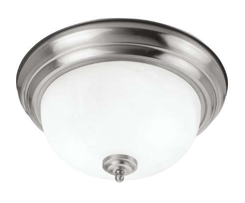 Progress Lighting Inspiration 2 Light Brushed Nickel: Livex Lighting 7117-91 North Port 2 Light Brushed Nickel