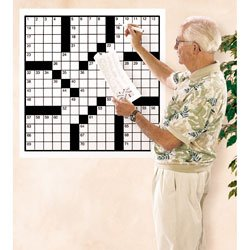 Nasco 82 Words 2 ft. x 2 ft. Crossword Puzzle Grid Set of 30 - Book 4 (puzzles 91-120) - SN02003 D