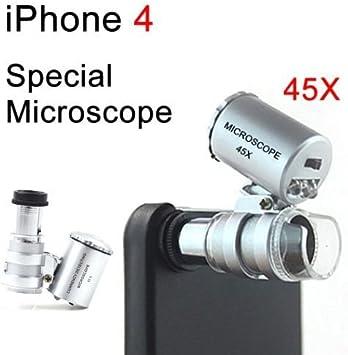 Microscopio para iPhone Smartphone Zoom 45 x: Amazon.es: Electrónica