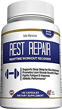 Glutamine BCAA Capsules Post Workout Recovery Muscle Building and Sleep Supplement, A Blend of L-Glutamine and Amino Acids, All Natural Pills for Men and Women 150 Capsules, 30 Day Supply