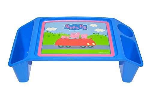 Peppa Pig 2 Storage Wells & 1 Cup/Pencil/Crayon Holder Activity Tray, Blue