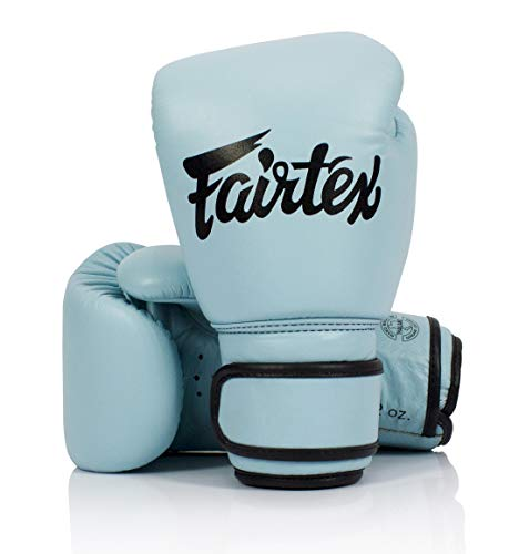 Fairtex Genuine New Pastel Blue Boxing Gloves Genuine Leather (14oz)